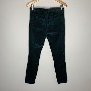 Loft Forest Green Modern Skinny Corduroy Pants